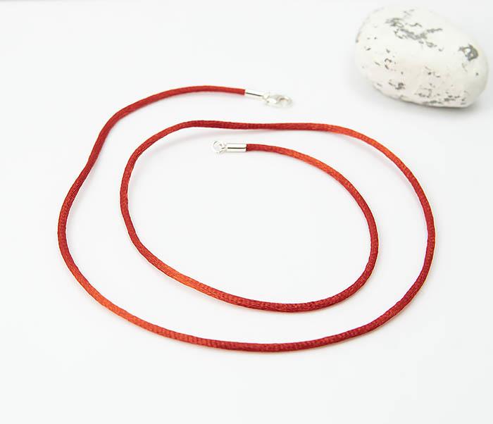 PL279-5 Красный шнурок гайтан на шею из шелка фото 03