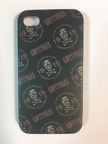 Кейс для смартфона Iphone 4 чёрный пластик