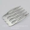 Гребень, основа для заколки 39х26 мм (цвет - платина)