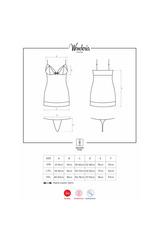 Прозрачная эротическая сорочка со стрэпами короткая Wonderia