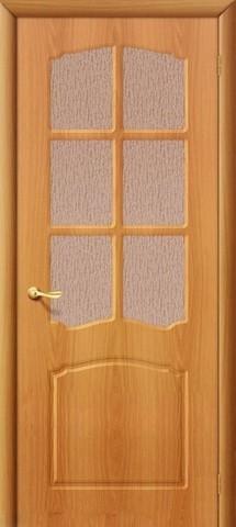 Дверь Дера Азалия, цвет миланский орех, остекленная