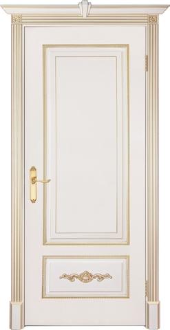 Дверь Prestigio Адриана, цвет слоновая кость/патина золото, глухая