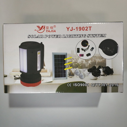 Ф.аккумуляторный ручной YJ-1902T, 1W+22SMD, power bank, радио, mp3 плеер, лампы, солнечная система