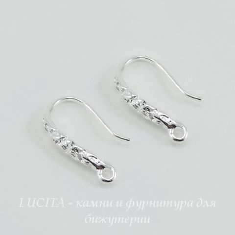 Швензы - крючки с узором 16 мм (цвет - серебро)