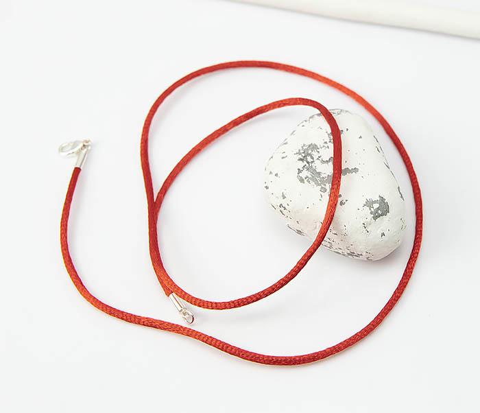 PL279-5 Красный шнурок гайтан на шею из шелка фото 05