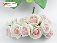 Букет из латексных розочек бело-розовые