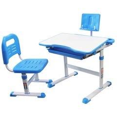 Rifforma Комплект парта и стул SET-17 белый/голубой (RFDC-0317)