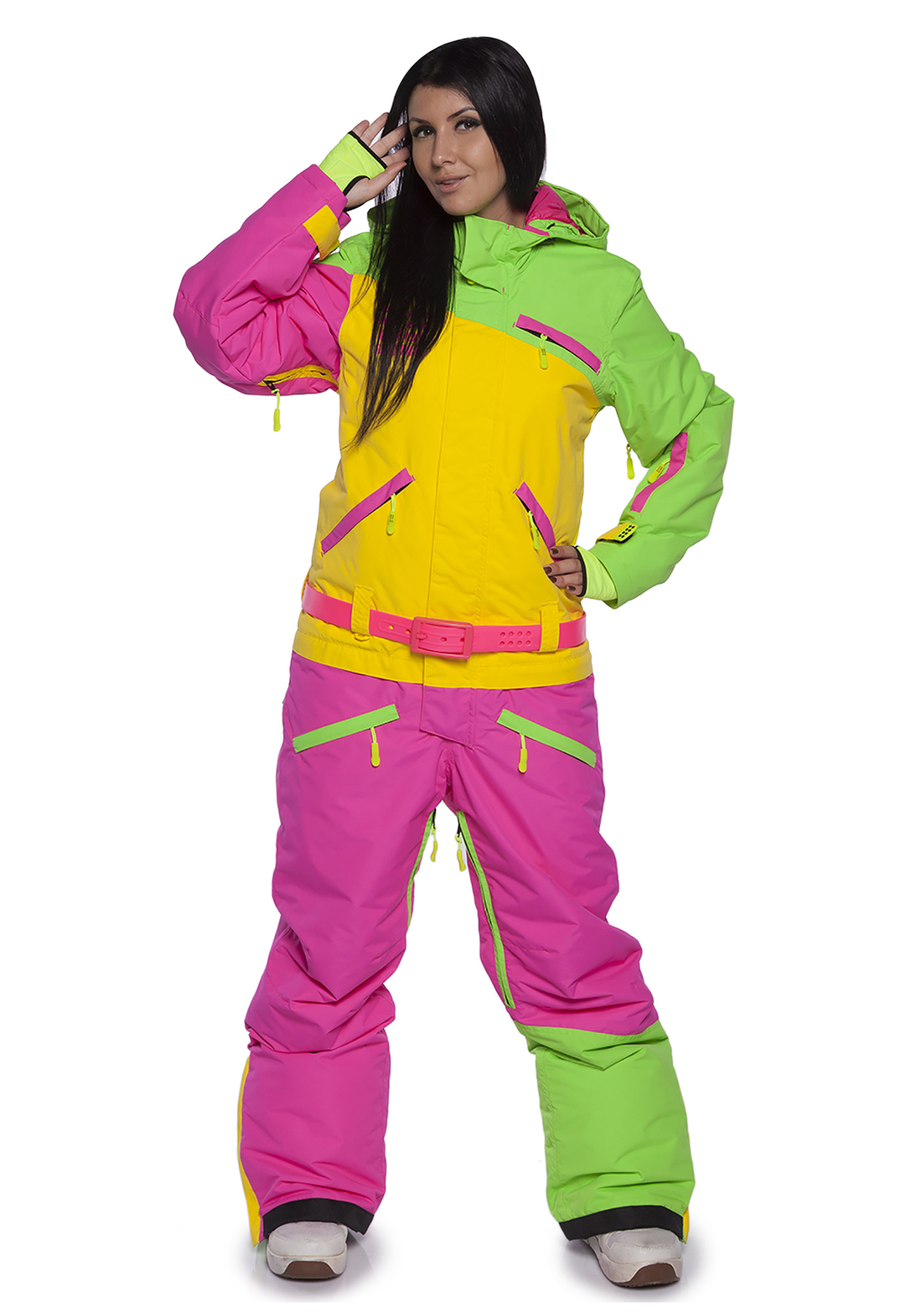 Женский комбинезон для сноуборда Cool Zone Mix 3514/10 цикломен-желтый | Интернет-магазин Five-sport.ru