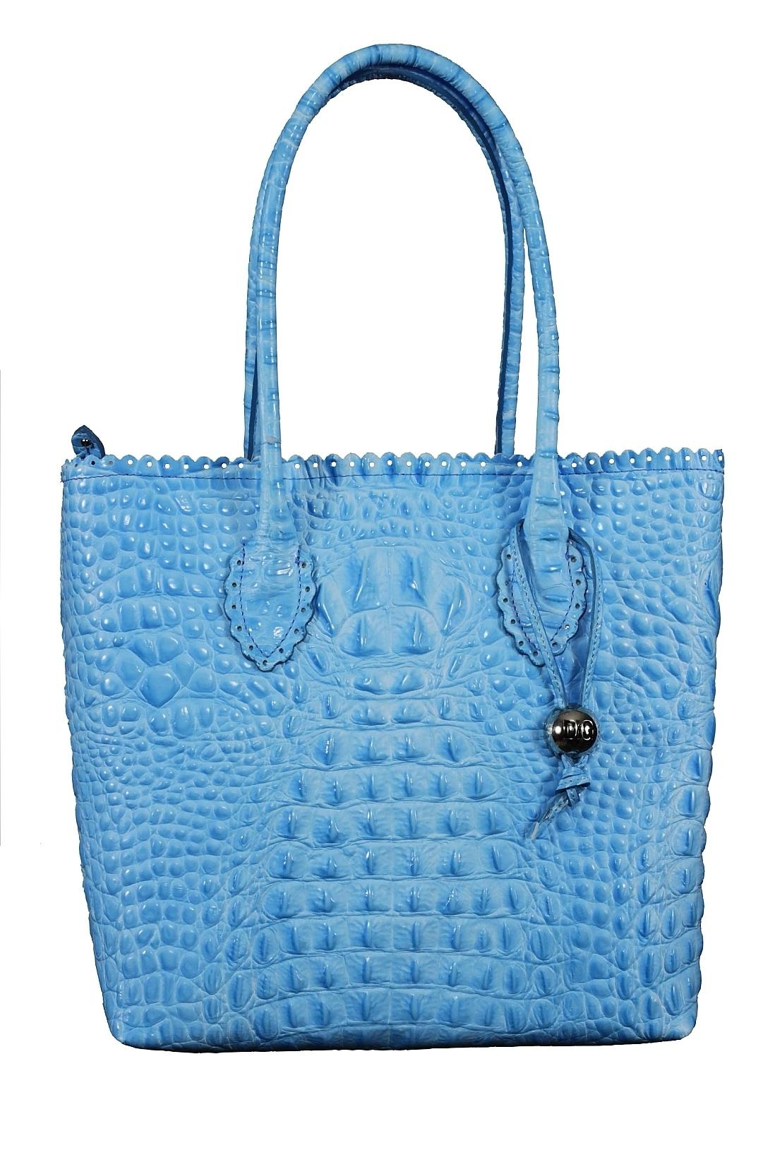 Сумка женская Di Gregorio 311 cocco azzurro
