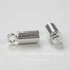 Концевик для шнура 3 мм, 9х3,5 мм (цвет - серебро), 10 штук (Картинка)