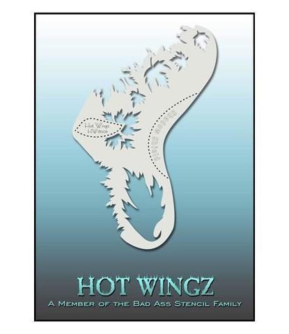Трафарет Hot wings 8005