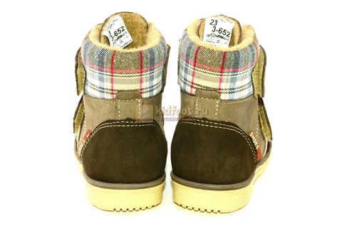 Ботинки для мальчиков Лель (LEL) на байке из натуральной кожи цвет коричневый. Изображение 8 из 14.
