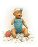 Купальник вязаный - На кукле. Одежда для кукол, пупсов и мягких игрушек.