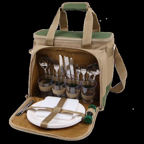 """Набор для пикника на 4 человека """"Арктика"""" с сумкой-холодильником, 13,5 литров"""