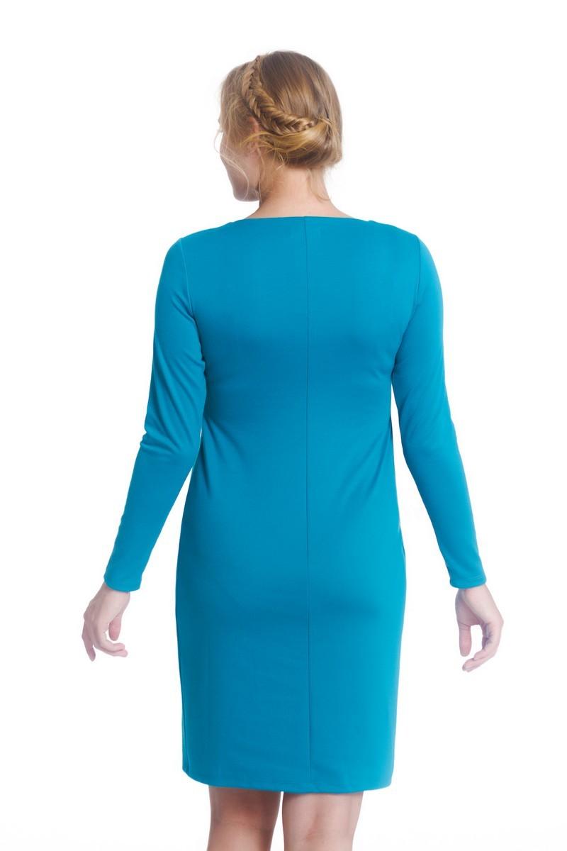 Платье 07984 голубой