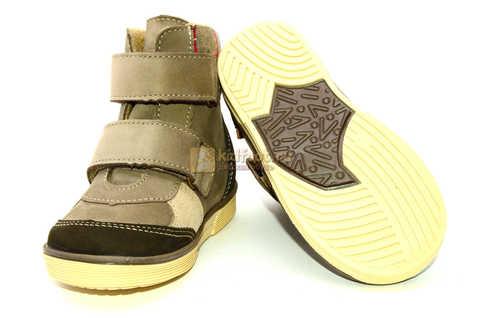 Ботинки для мальчиков Лель (LEL) на байке из натуральной кожи цвет коричневый. Изображение 9 из 14.
