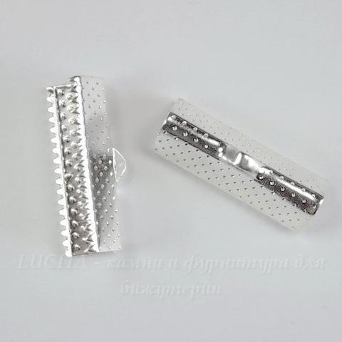 Концевик для лент 20 мм (цвет - серебро), 10 штук
