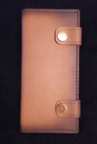 Коричневый клатч ручной работы из толстой натуральной кожи OKKL-03