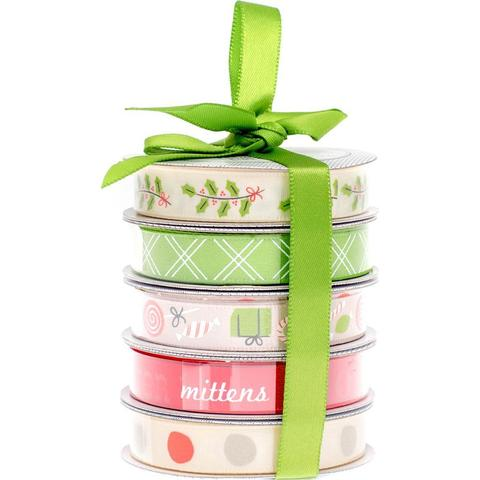 Набор лент American Crafts Ribbon-Holiday