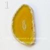 Срез Агата без отверстия (тониров), цвет - желтый, 54-57 мм