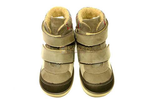 Ботинки для мальчиков Лель (LEL) на байке из натуральной кожи цвет коричневый. Изображение 11 из 14.