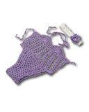 Купальник вязаный - Сиреневый. Одежда для кукол, пупсов и мягких игрушек.