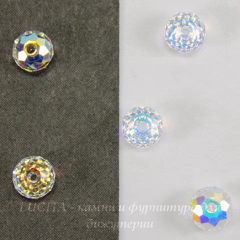 5040 Бусина - рондель с огранкой Сваровски Crystal AB  6 мм ()
