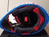 Кроссовый мото шлем NENKI NK316, красный-синий-белый