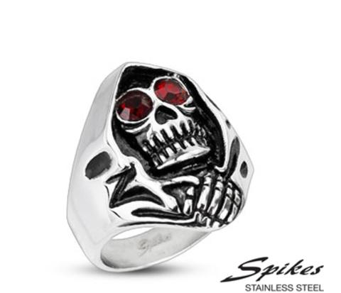 Мужское кольцо «Смертушка» из стали («Spikes»)