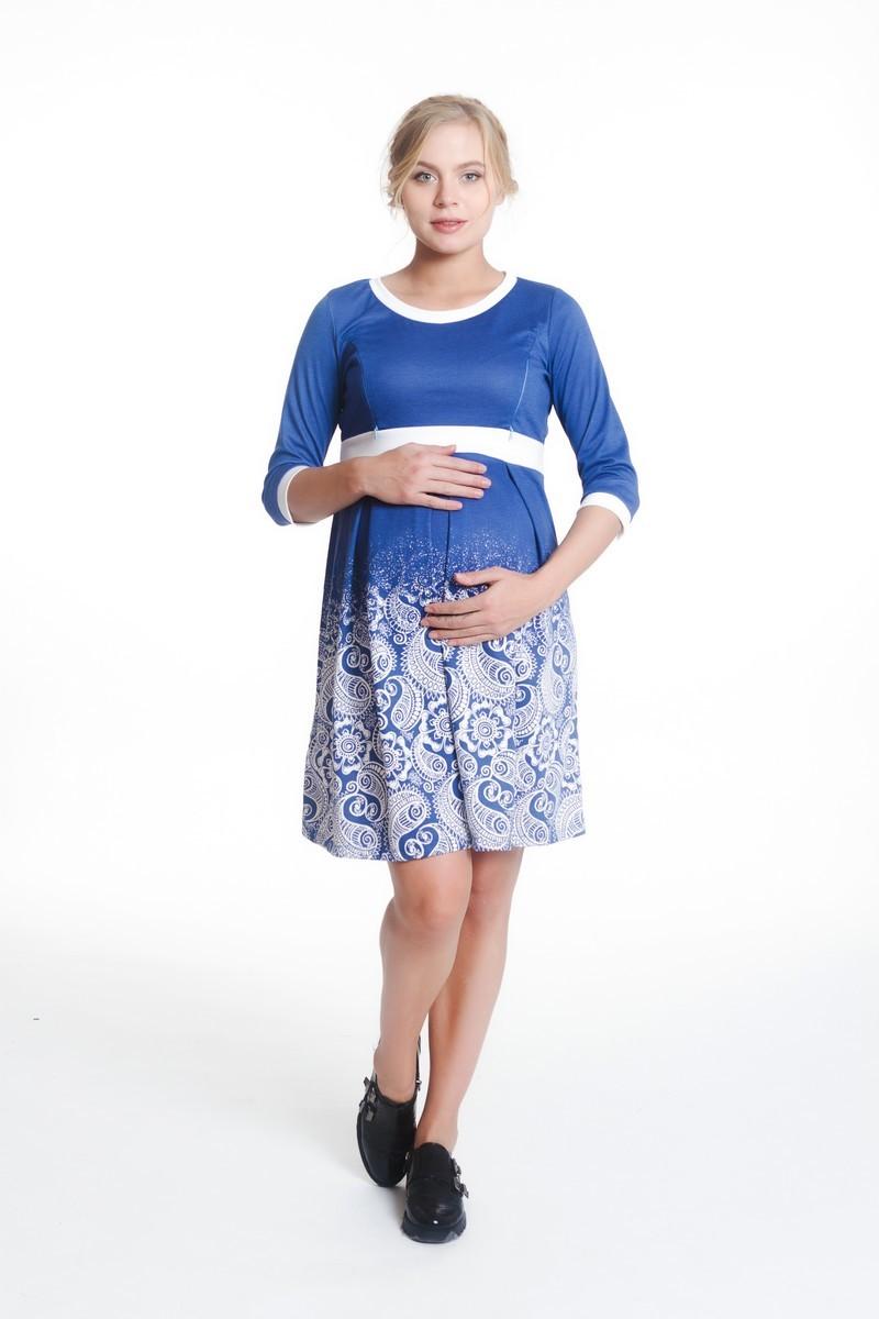 Платье для беременных 07988 голубой