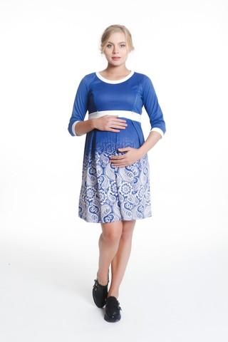 Платье 07988 голубой