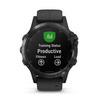 Купить Мужские мультиспортивные часы Garmin Fenix 5 Plus Sapphire - черные с черным ремешком 010-01988-01 по доступной цене