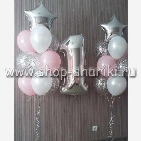 Оформление шарами на год девочке