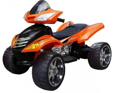 Детский электроквадроцикл Rivertoys Е005КХ оранжевый кожа
