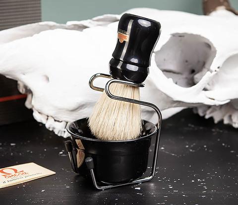 Набор для бритья из помазка, чаши и подставки