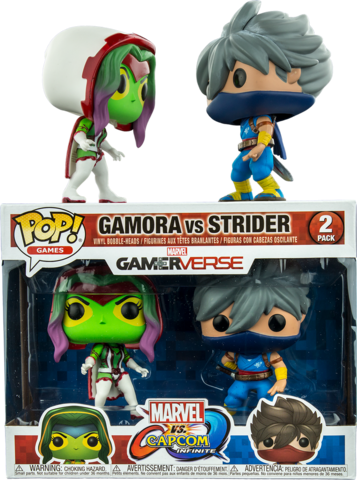 Funko POP! Vinyl 2-Pack: Capcom vs. Marvel: Gamora vs Strider || Гамора против Страйдера