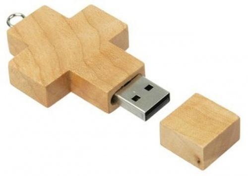 usb-флешка деревянный крест оптом