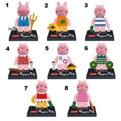 Minifigures Peppa Pig Blocks Building