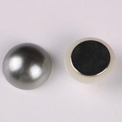 Магнит для платка серый жемчужина (магнитная брошь) mg-23-3