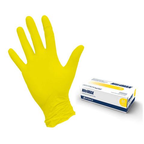 Перчатки нитриловые Жёлтые р. L (100 штук - 50 пар)