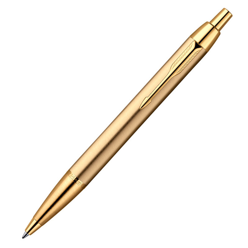 Parker IM - Brushed Metal Gold GT, шариковая ручка, M