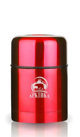 Термос для еды Арктика 0,5 л с супер-широким горлом, красный