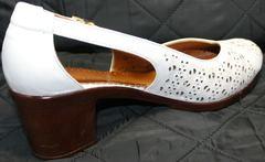 Босоножки на среднем каблуке Marani Magli 031 405 White.