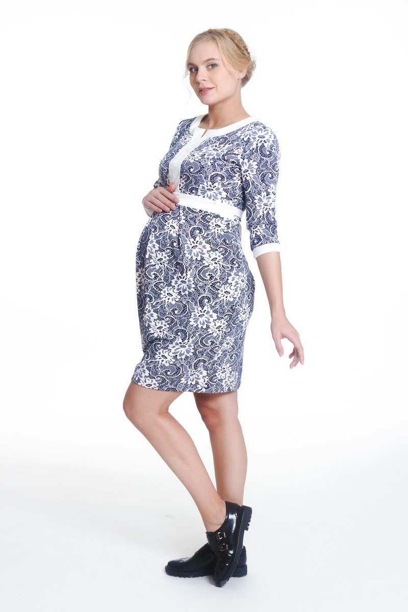 Платье для беременных 07989 синий