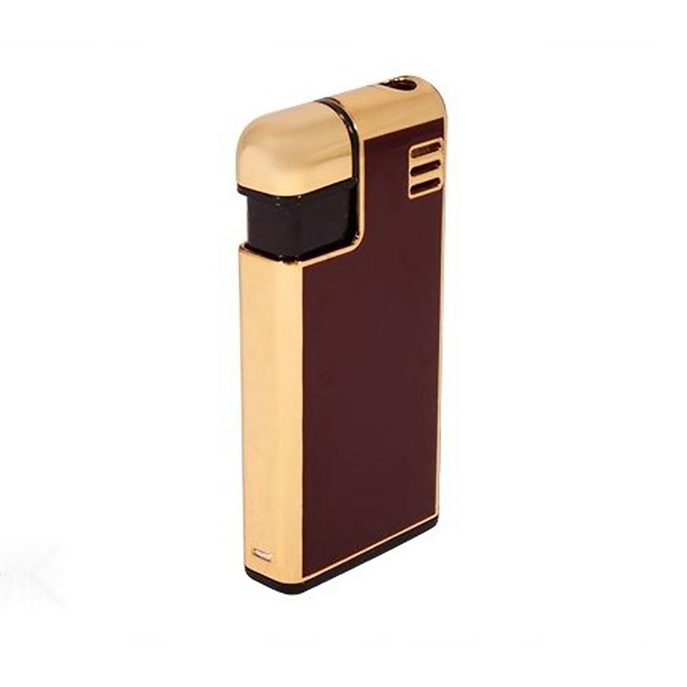 Зажигалка Pierre Cardin кремниевая газовая пьезо, цвет позолота/красный металлик, 2,8х1х5,8см