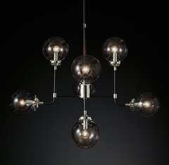 Bistro Globe Clear Glass Chandelier 8-Light