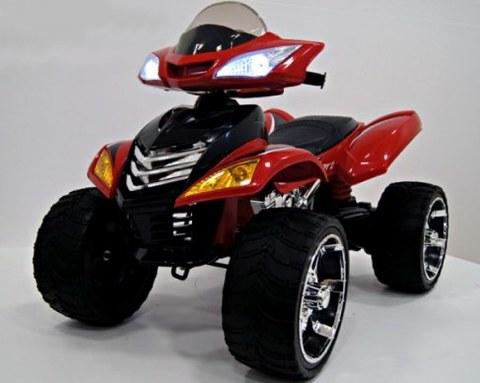 Детский электроквадроцикл Rivertoys Е005КХ красный кожа