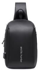 Однолямочный рюкзак  ARCTIC HUNTER XB00081 USB Черный