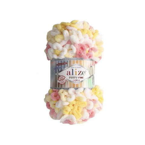 Купить Пряжа Ализе Пуффи Файн Колор Код цвета 5942 | Интернет-магазин пряжи «Пряха»
