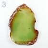 Подвеска Срез Агата, цвет - дымчатый зеленый, 61-110 мм
